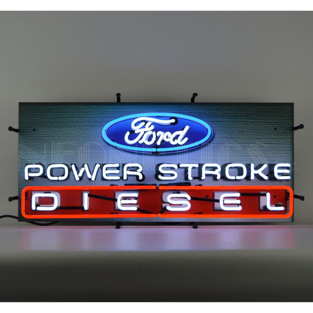 AUTO FORD POWER STROKE DIESEL NEON SIGN
