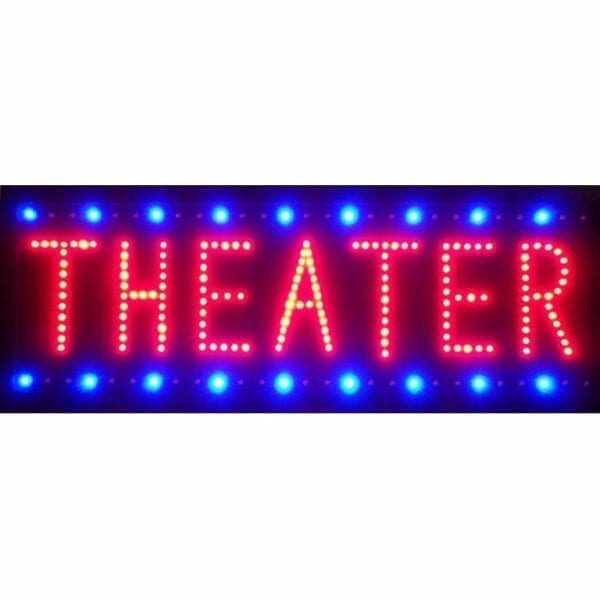 Red /& Blue Vertical Open LED Sign 26H x 11W x 1D