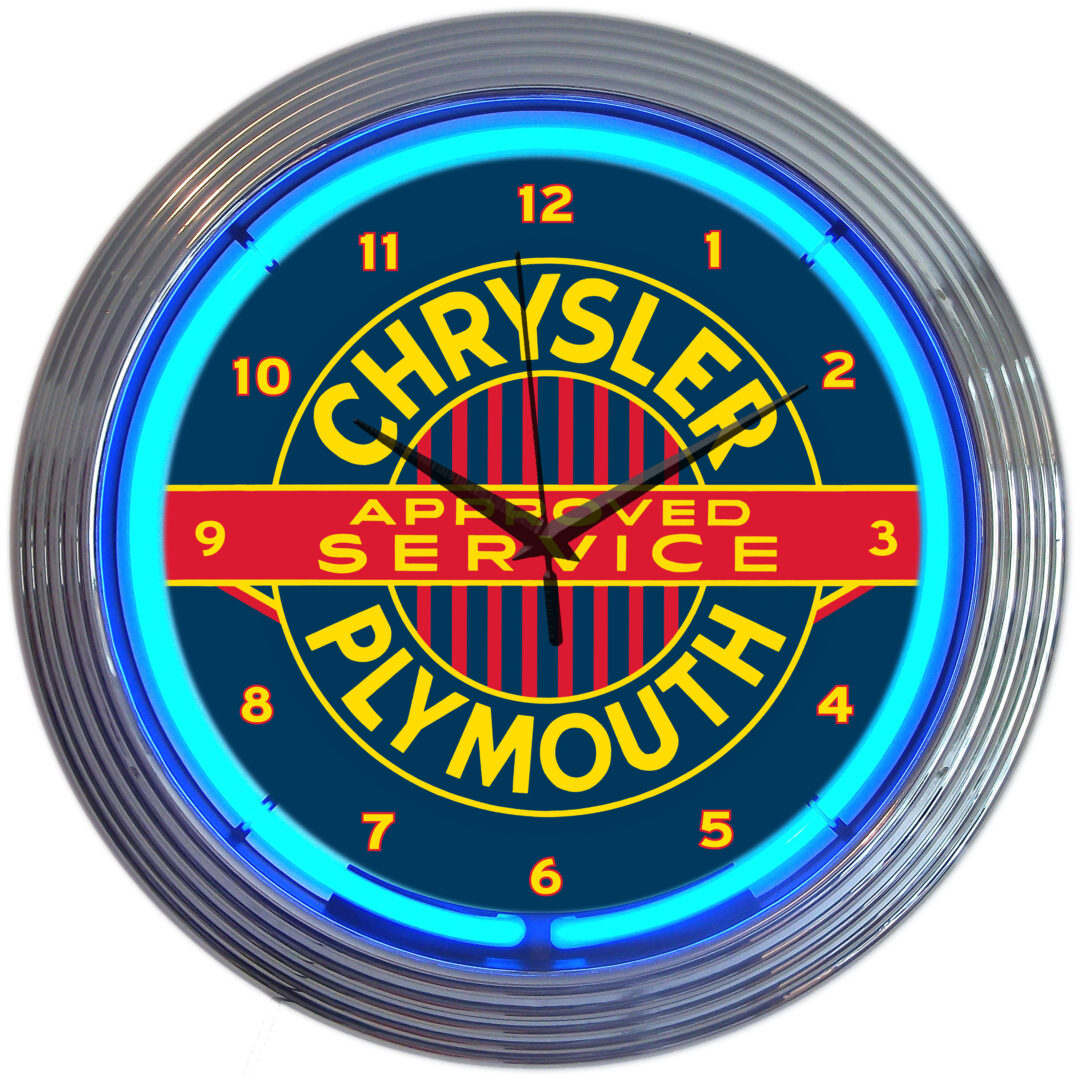 AUTO - CHRYSLER/PLYMOUTH NEON CLOCK - 8CRYPL - Neonetics