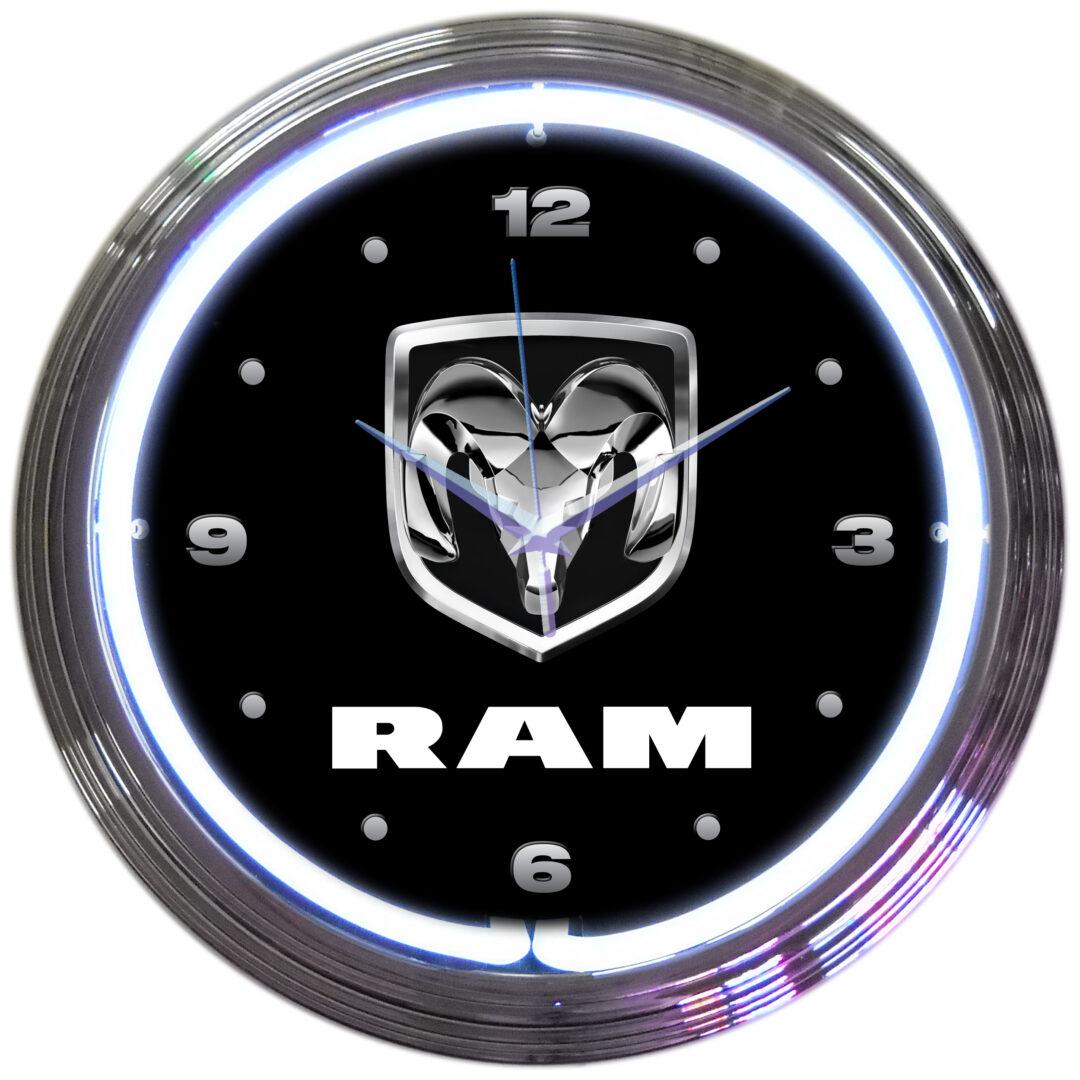 AUTO - DODGE RAM NEON CLOCK - 8RAMXX - Neonetics
