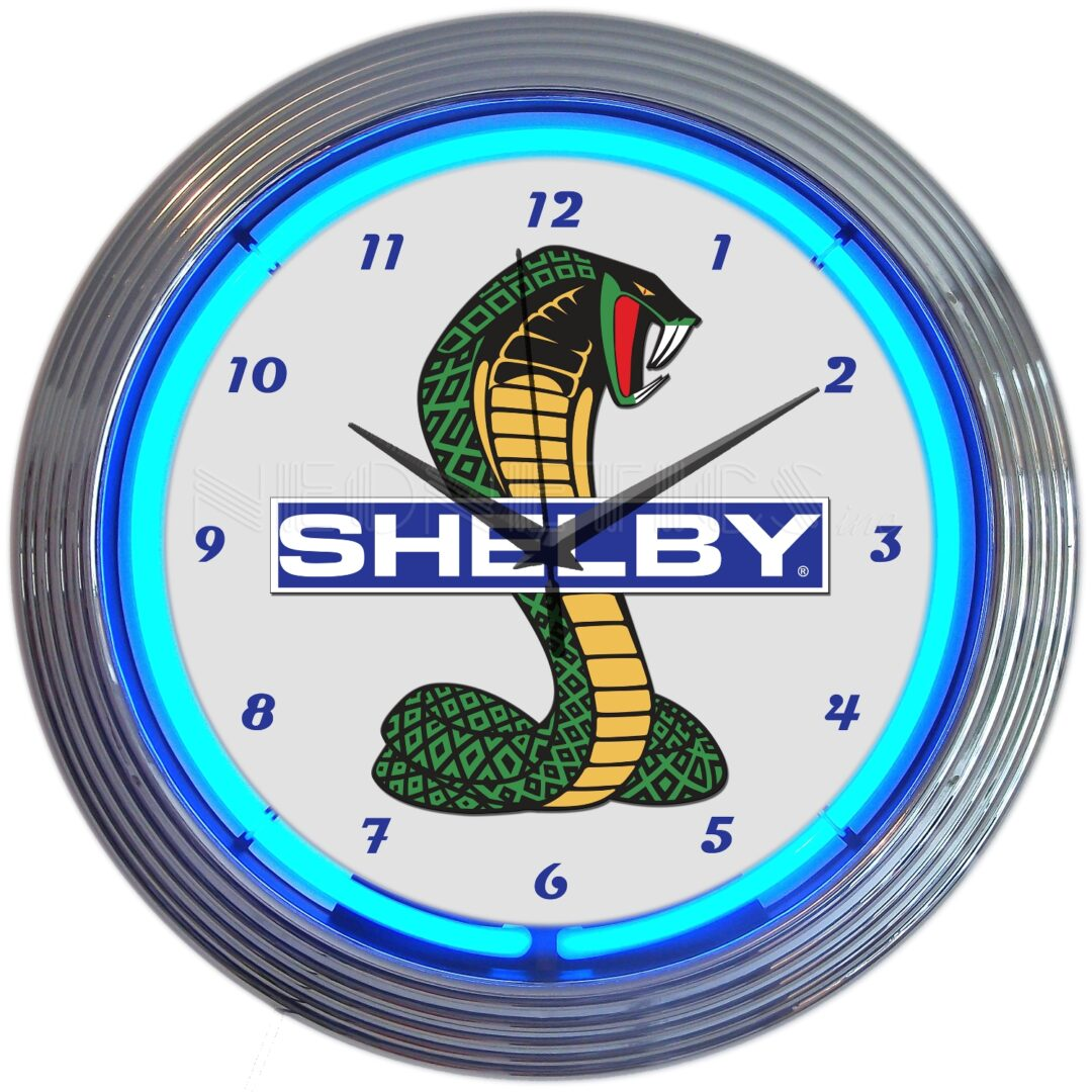 AUTO – SHELBY NEON CLOCK – 8SHLBY - Neonetics