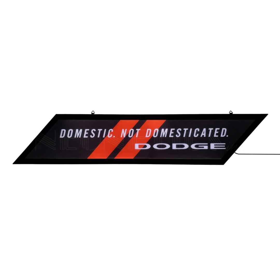 Dodge Domestic Not Domesticated Slim Line Led Sign 7leddg Neonetics